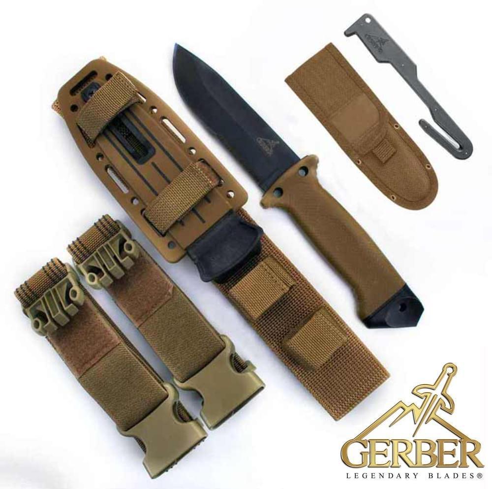 44ecffa466f Gerber LMF II Survival Knife Coyote Brown with Sheath   Grimsbu Fitid